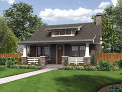 Bungalow Style Floor Plans Plan: 74-800