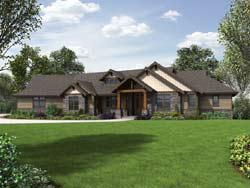 Craftsman Style Floor Plans Plan: 74-802