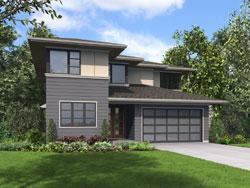 Modern Style Home Design Plan: 74-821