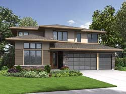 Contemporary Style Floor Plans Plan: 74-823