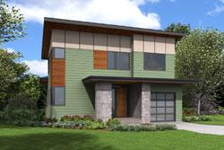 Modern Style House Plans Plan: 74-827