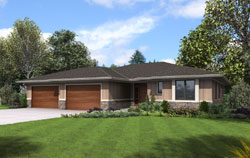 Contemporary Style Floor Plans Plan: 74-846