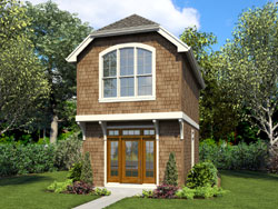 Craftsman Style Home Design Plan: 74-863