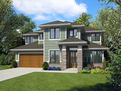 Contemporary Style House Plans Plan: 74-865