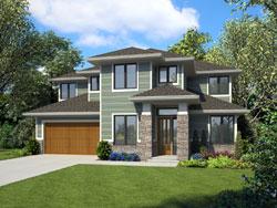 Contemporary Style Home Design Plan: 74-865