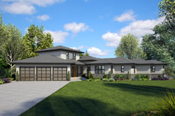 Contemporary Style Home Design Plan: 74-866