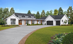 Modern-Farmhouse Style Floor Plans Plan: 74-870