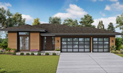 Contemporary Style House Plans Plan: 74-874