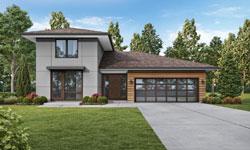 Modern Style Home Design Plan: 74-875