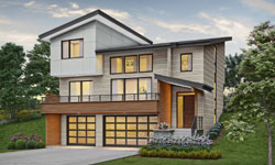 Contemporary Style Floor Plans Plan: 74-880
