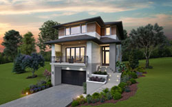 Contemporary Style Home Design Plan: 74-887