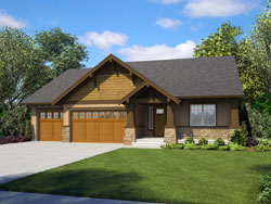 Craftsman Style House Plans Plan: 74-889