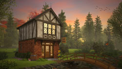 Tudor Style Home Design Plan: 74-892