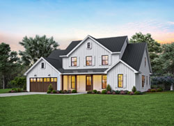Modern-Farmhouse Style House Plans Plan: 74-896
