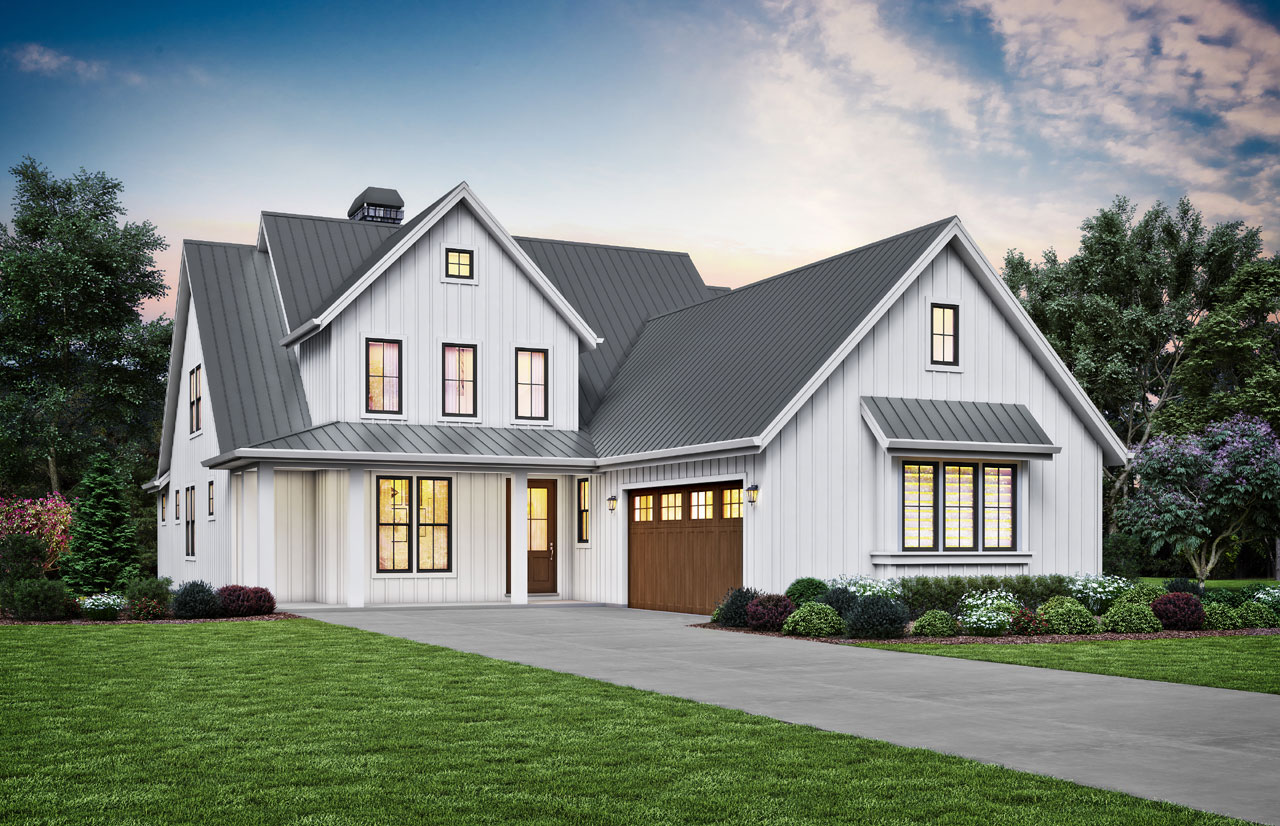 Modern-farmhouse Style Floor Plans Plan: 74-897