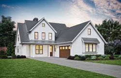 Modern-Farmhouse Style House Plans Plan: 74-897