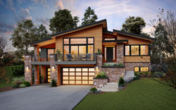 Contemporary Style Floor Plans Plan: 74-901