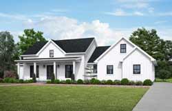 Modern-Farmhouse Style House Plans Plan: 74-908