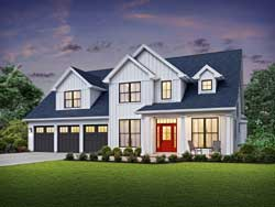 Modern-Farmhouse Style Floor Plans Plan: 74-912
