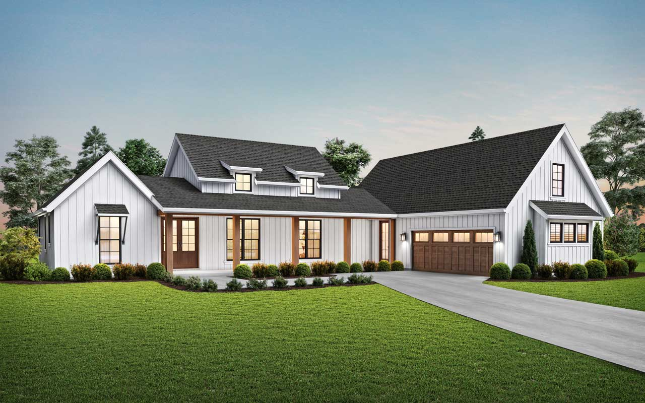 Modern-farmhouse Style House Plans Plan: 74-914