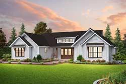 Modern-Farmhouse Style Floor Plans Plan: 74-924