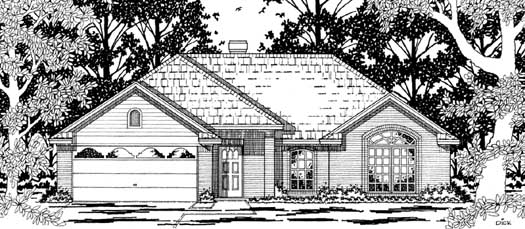 Traditional Style Home Design Plan: 75-116