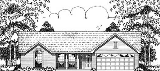 Traditional Style House Plans Plan: 75-117