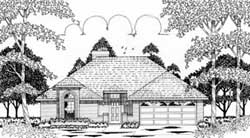 Traditional Style Home Design Plan: 75-127