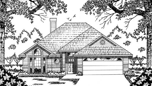 Traditional Style Home Design Plan: 75-131