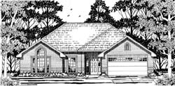 Traditional Style Home Design Plan: 75-144