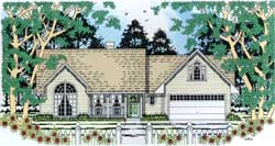 Country Style House Plans Plan: 75-155