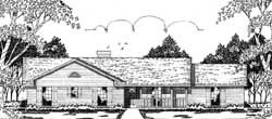 Ranch Style Home Design Plan: 75-177