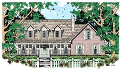 Country Style House Plans Plan: 75-272