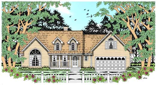 Country Style Floor Plans Plan: 75-281