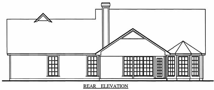 Rear Elevation Plan: 75-281