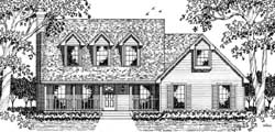 Country Style Floor Plans Plan: 75-286