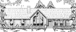 Country Style Home Design Plan: 75-288