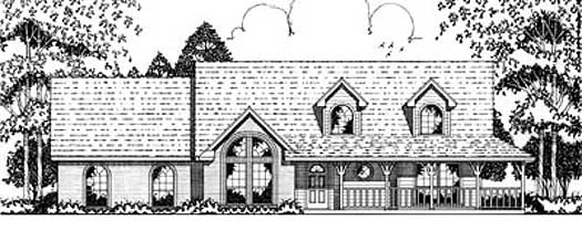 Country Style Home Design Plan: 75-326