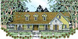 Country Style Floor Plans 75-334