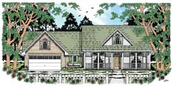 Country Style Floor Plans Plan: 75-335