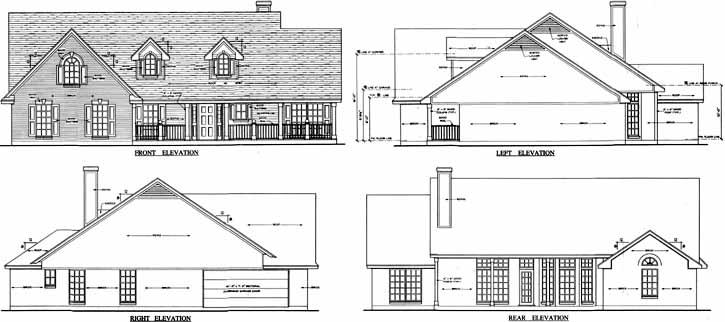Rear Elevation Plan: 75-338