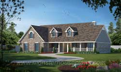 Country Style Floor Plans 75-338