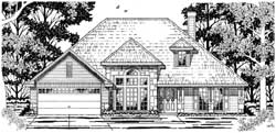 French-Country Style Floor Plans Plan: 75-340
