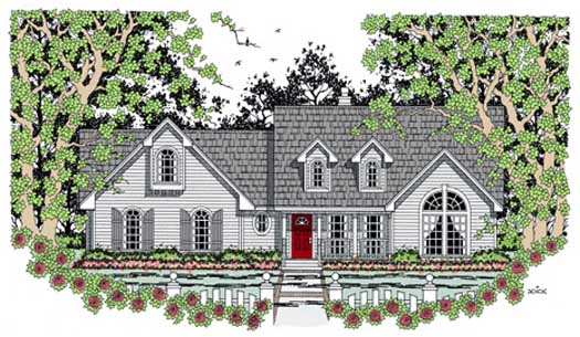 Country Style Home Design Plan: 75-361