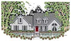 Country Style Floor Plans Plan: 75-361
