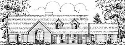 Country Style Home Design Plan: 75-373