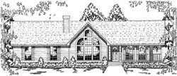 Country Style House Plans Plan: 75-375