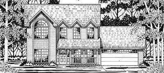 Country Style House Plans Plan: 75-381