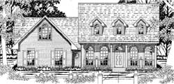 Country Style Home Design Plan: 75-386