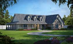 Country Style House Plans Plan: 75-405